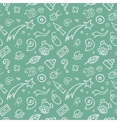Doodle Childish Seamless Pattern vector image