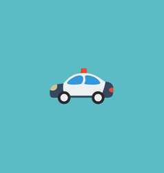 flat icon cop car element of vector image