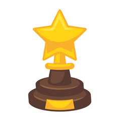 golden award in star shape isolated on white vector image