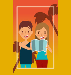 People summer vacations vector