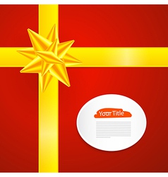 Red Abstract Merry Christmas Background vector image