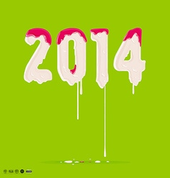 2014 Melting Font vector
