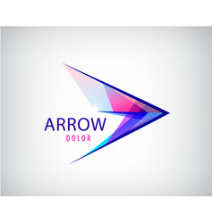 abstract arrow play logo multicolor vector image