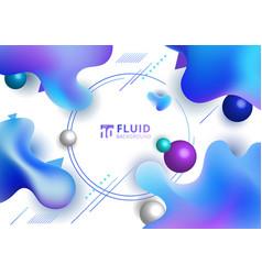 Abstract fluid blue gradient color irregular vector