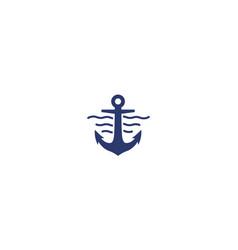 Anchors or ship or sea or water or sailor logo vector
