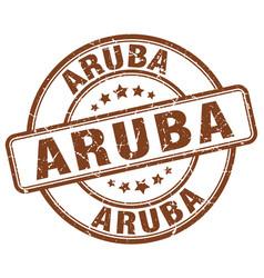 Aruba brown grunge round vintage rubber stamp vector
