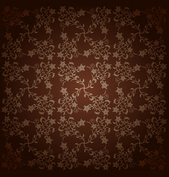 Background baroque with flowers vector