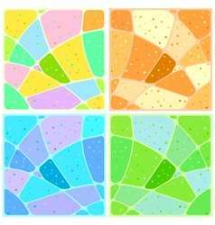 Backgrounds mosaic with patterns vector image