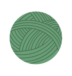 ball yarn isolated textile for handmade vector image
