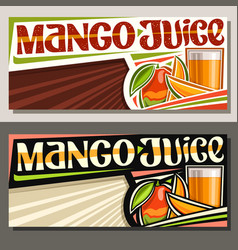 Banners for mango juice vector