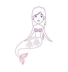 Beautiful mermaid character icon vector