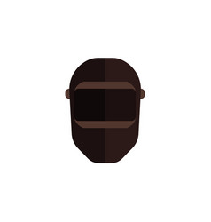 black balaclava icon for skiing or criminal vector image
