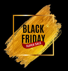 black friday sale inscription banner design vector image