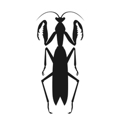 Black grasshopper icon vector