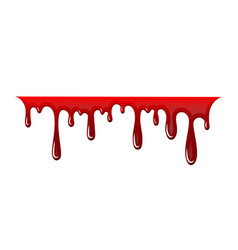 Blood drip 3d drop isolated white vector