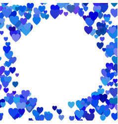 Blue random heart background design - love graphic vector