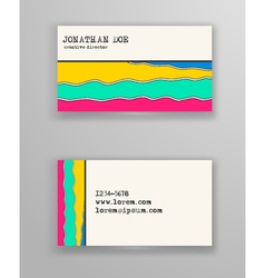 Brochure with Hand Drawn Doodle Border vector