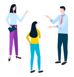 brokers and hucksters collaboration colleagues vector image