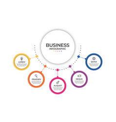 business infographic template timeline concept vector image