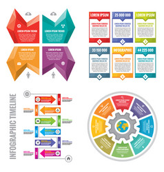 business infographic templates concept vector image