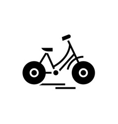 Bycicle black icon concept vector