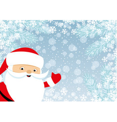 cheerful santa claus vector image