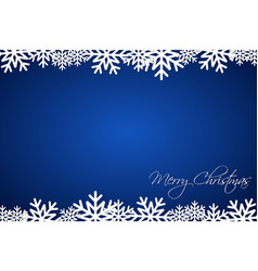 christmas blue background lined snowflakes vector image