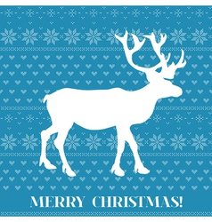 Christmas Card - Scandinavian Knit Style vector