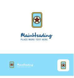 creative card game logo design flat color logo vector image