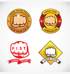 design template of fist labels vector image