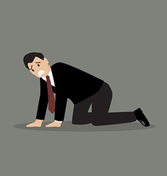 Desperate businessman vector