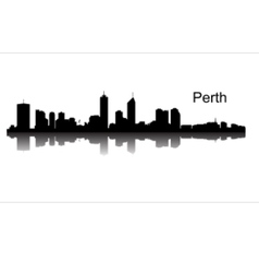 Detailed Perth silhouette skyline vector