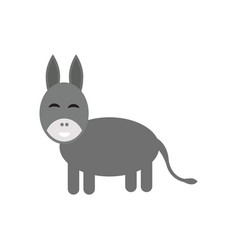 Donkey sketch style hand drawn of beautiful black vector