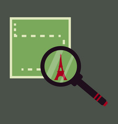 Eiffel tower silhouette simple background vector