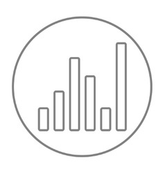 Equalizer line icon vector image