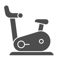 exercise bike solid icon gym bicycle vector image