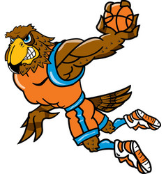 Falcon sports basketball logo mascot vector