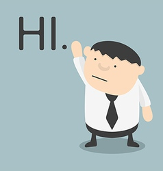 fat businessman hi vector image