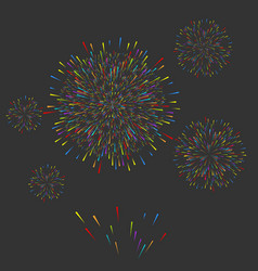 fireworks christmas new year festival vector image