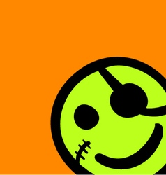 Funny pirate face vector