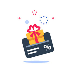Gift card loyalty program earn points vector