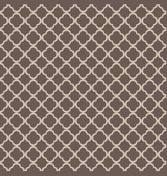 Gray quatrefoil outline ornamental pattern vector