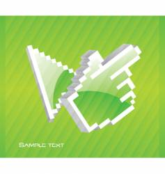 hand and cursor vector image