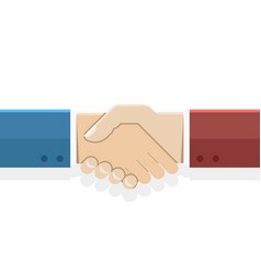 Handshake partnership symbol businessman flat vector
