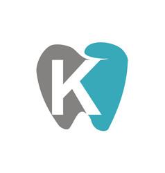 Healthy dental care letter k vector