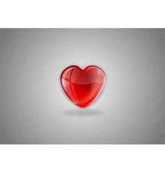 Heart grey background II vector