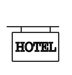 hotel sign icon vector image