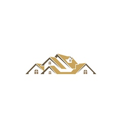 house roof realty business logo vector image