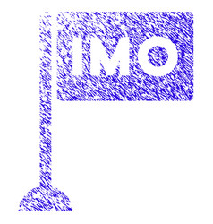 Imo flag icon grunge watermark vector