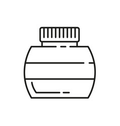 ink bottle thin line icon design vector image